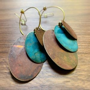 Metallic earrings